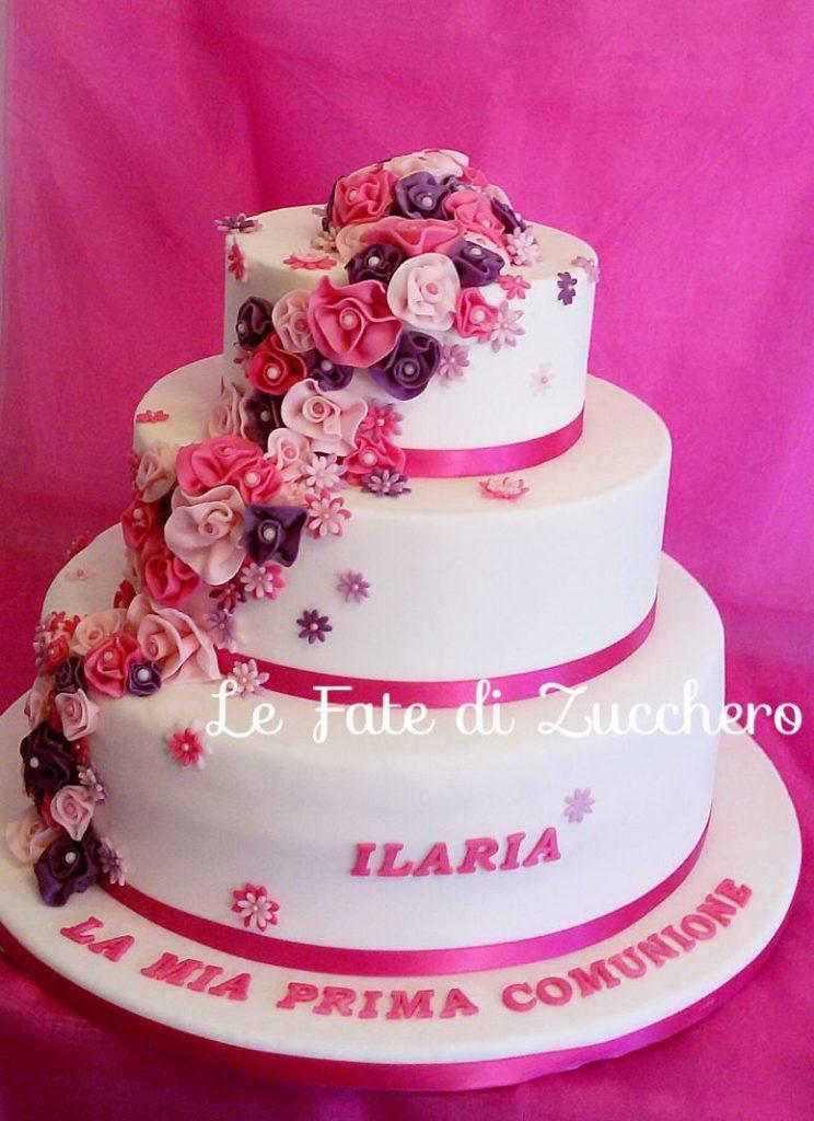 torta-pasta-di zucchero-fiori-comunione